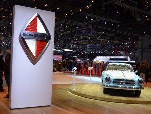 © MotorNews kw / 85. Auto-Salon Genf 2015 / Borgward Messestand