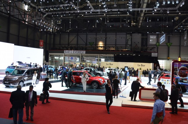 © MotorNews kw / 85. Auto-Salon Genf 2015 / Fiat Messestand