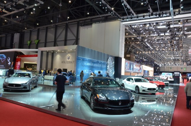 © MotorNews kw / 85. Auto-Salon Genf 2015 / Maserati Messestand
