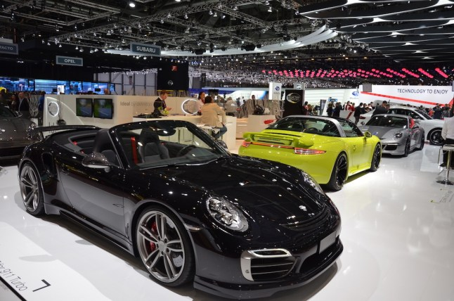 © MotorNews kw / 85. Auto-Salon Genf 2015 / TechArt Messestand