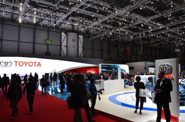 © MotorNews kw / 85. Auto-Salon Genf 2015 / Toyota Messestand