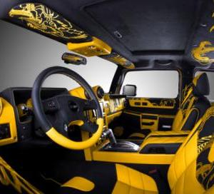 Vilner Modified Yellow Hummer H2 Gets Chinese Dragon Theme Motoroids