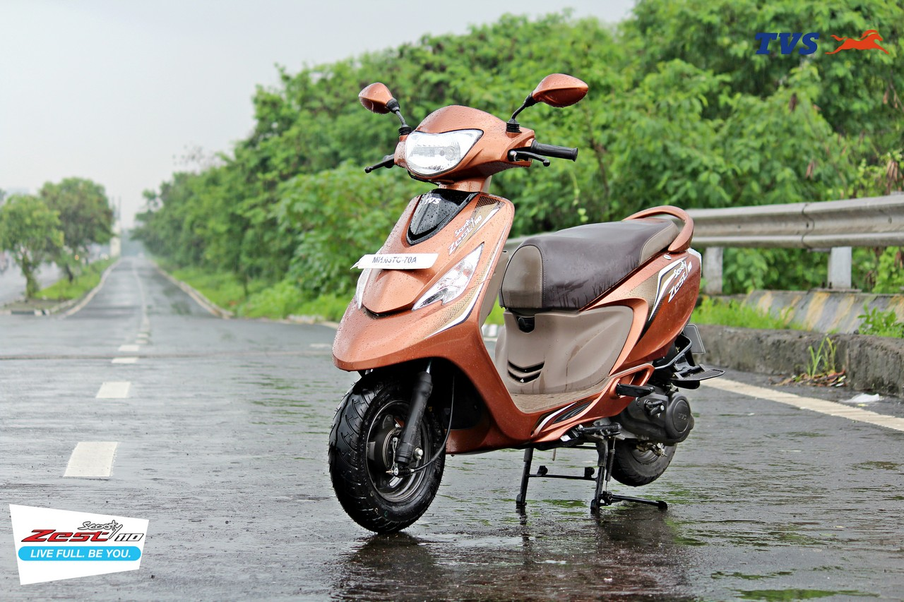 Tvs Scooty Pep Catches fire In Vijayawada Due To Short ...