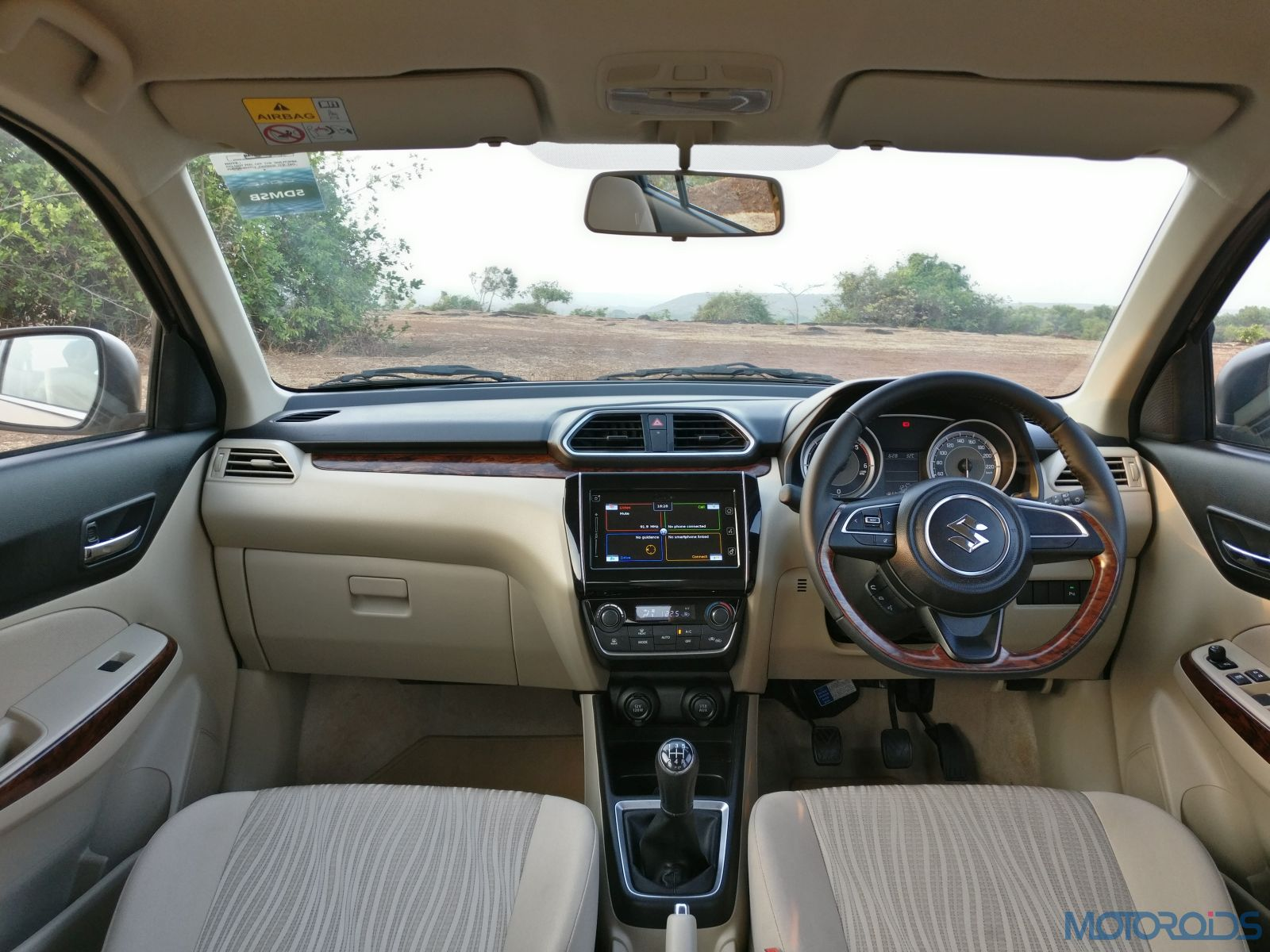 2017 Maruti Dzire Cabin And Dashboard Review