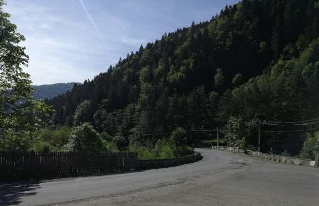 DN15 inainte de barazul Izvorul Munteleui