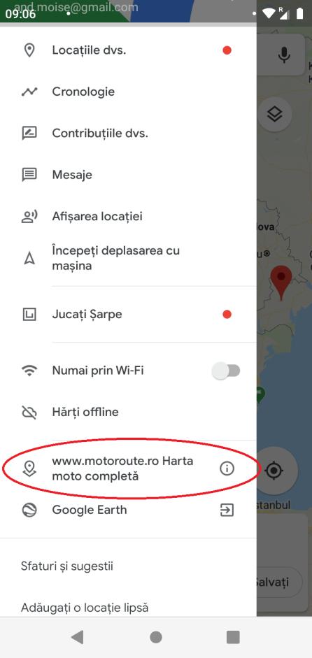 Debifați stratul cu numele www.motoroute.ro