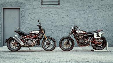 FTR 1200 S comparativ cu motocicleta de flat track de curse