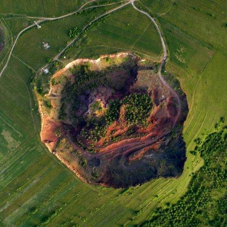 Vulcanul de la Racos vazut de sus