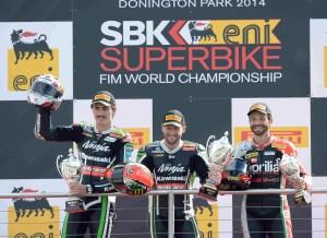 Donington Race 2 podium