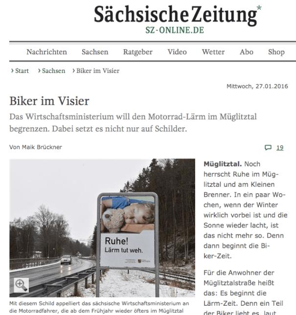 Die Sächsische Zeitung berichtet aus Müglitztal und Lauenstein.
