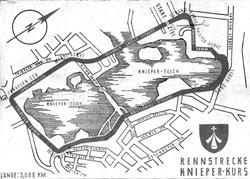 1950-1956 Länge: 3,088 km Knieper-Kurs