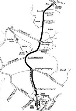 1975-1981 Länge: 2,8-3,0 km