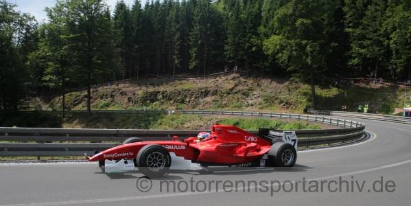 David Hauser bewegte den GP2-Rennwagen am Limit