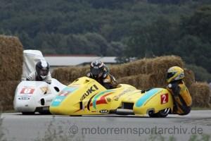 Günther Bachmaier und Tassilo Gall kollidieren im Kampf um den zweiten Platz