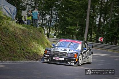 Markus Wüstefeld (MC Heilbad Heiligenstadt) aus dem nahen Duderstadt gewann die Klasse bis 2000ccm im ex-DTM Mercedes 190.