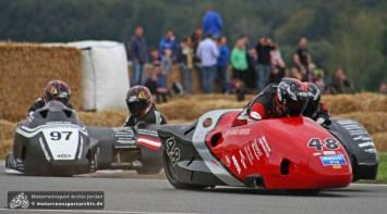 Ken Knapton und Enrico Roick ließen die Niederlage vom Samstag nicht auf sich sitzen. Sie siegten im Hauptrennen vor Grabmüller/Kirchhöfer.
