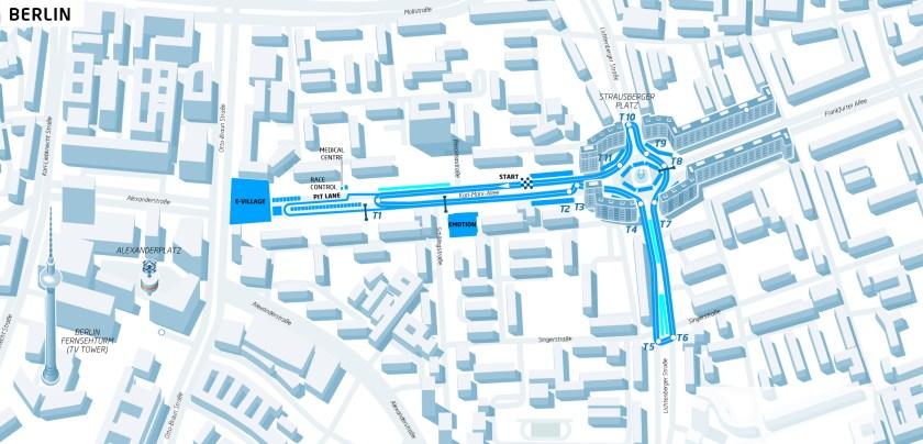 Der Straßenkurs für den Berlin ePrix 2016