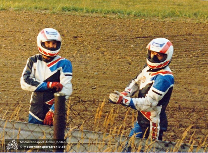 Sachsenringrennen Most 1992, Milcho Mladenov aus Bulgarien, aber wer ist der Beifahrer links?