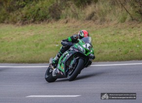 Johann Fredriks auf seiner schnellen Kawasaki.