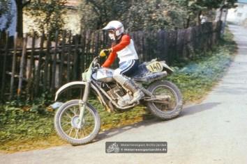 Harald Sturm aus Zschopau mit der MZ bei den Six Days in der CSSR 1982