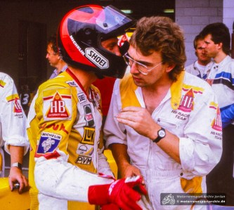 Reinhold Roth 1989 in Brno an der Box