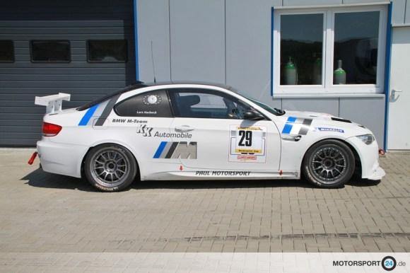 Weißer BMW M3 E92 Seitenansicht