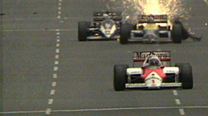 Image result for nigel mansell tyre explosion