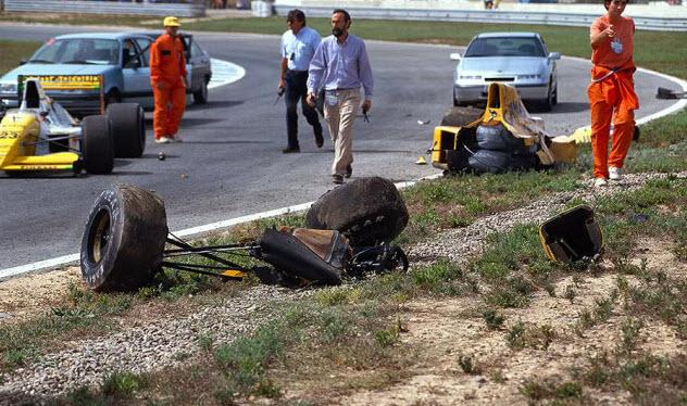 Ayrton Close Crash Senna