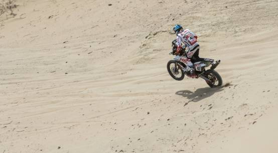 CS Santosh at Dakar Rally 2018 on Hero