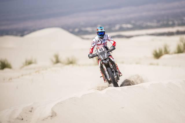 CS Santosh at Dakar Rally 2018 on Hero