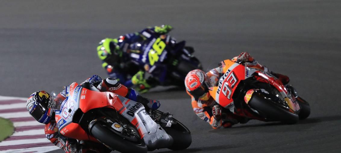 Ducati rider Andrea Dovizioso wins the Qatar Grand Prix