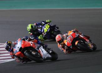 Ducati rider Andrea Dovizioso wins the Qatar Grand Prix