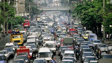 filas de trânsito
