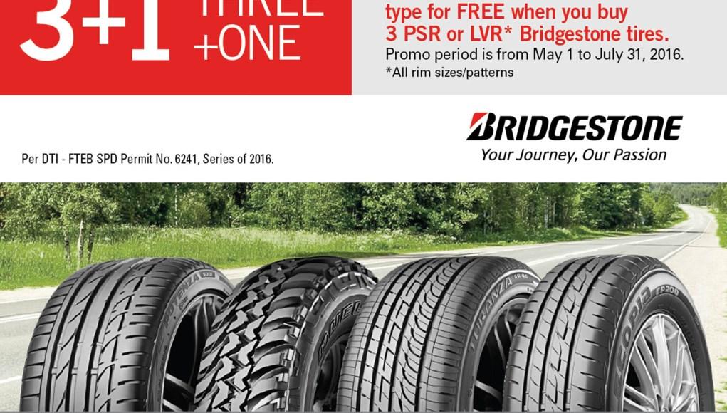 Bridgestone is extending its 3+1 promo until June