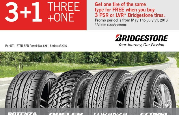 Bridgestone is extending its 3+1 promo until June