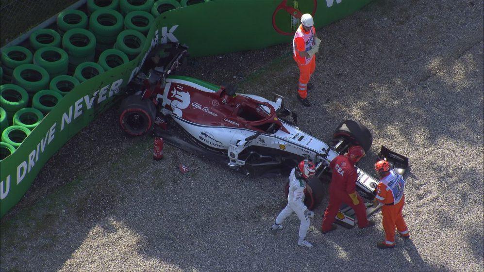 El accidente de Raikkonen en la Q2. (Fuente: Formula 1)