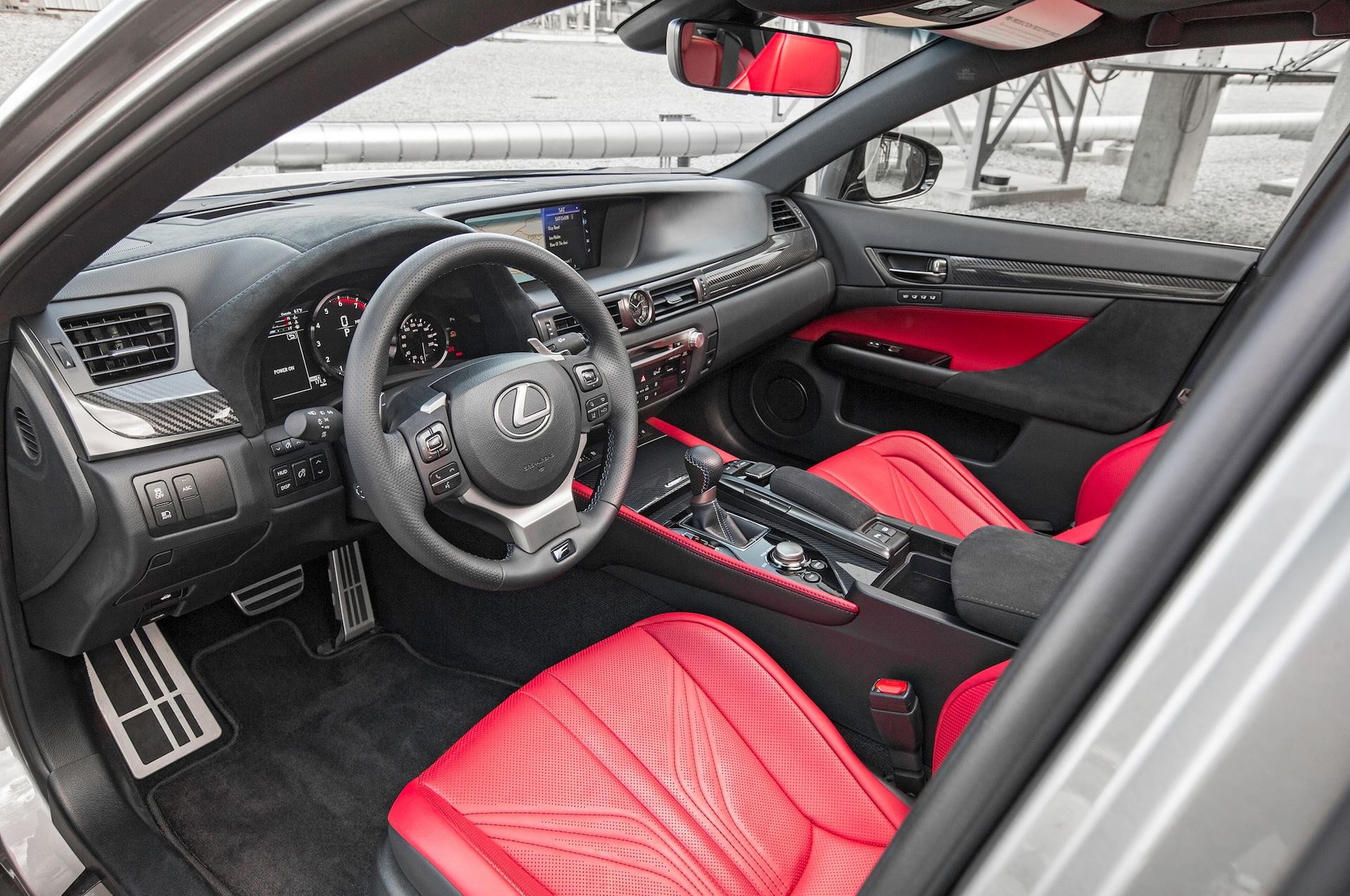 2016 Lexus GS F front interior seat 02