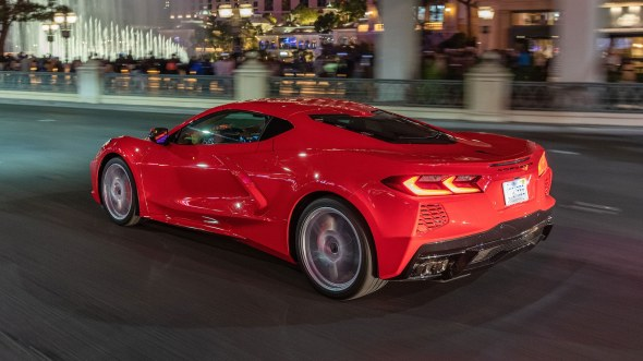 2020 Chevrolet Corvette C8 rear side in motion