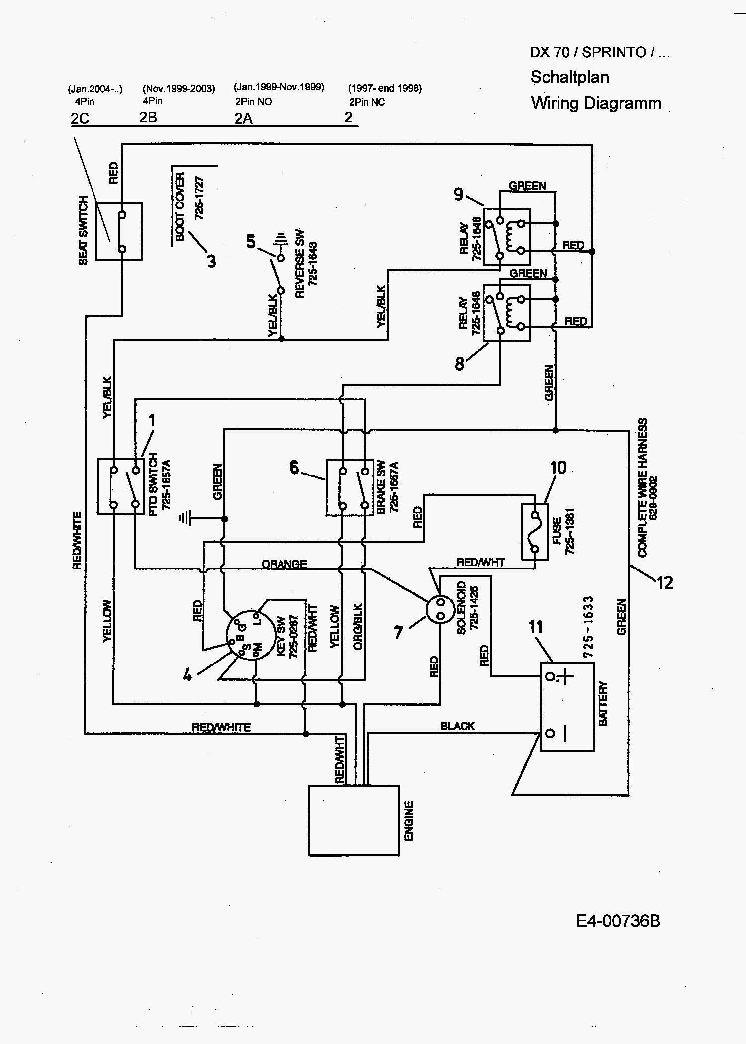 e4 00736b 01?resize\=665%2C931 mtd lawn tractor wiring diagram download auto lawn auto engine,Mtd Lawn Mower Wiring Schematic