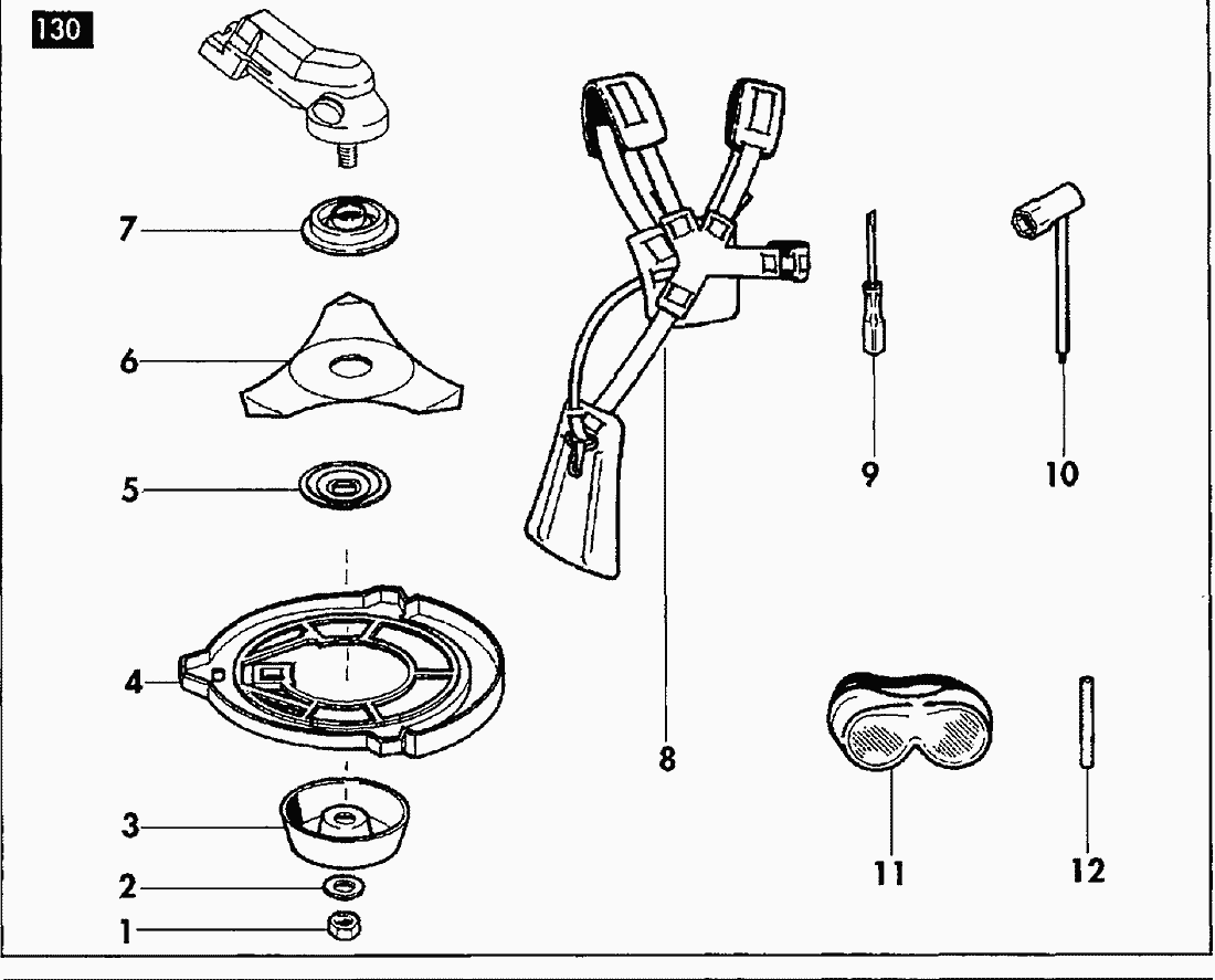 Spare Parts Lists For Solo Motorised Trimmers Tools