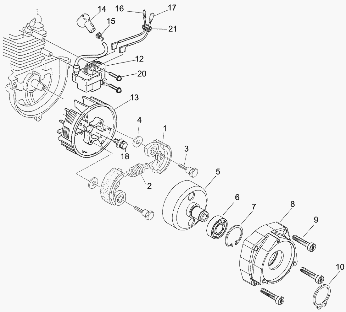 Spare Parts Lists For Solo Motorised Trimmers Flywheel