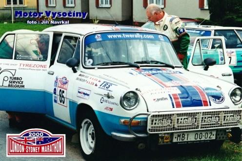 25 - St. č. 85 Ing. Jiří Šedivý – Jiří Kotek, oba ČR, Škoda 1100 MB - London-Sydney Marathon 2000