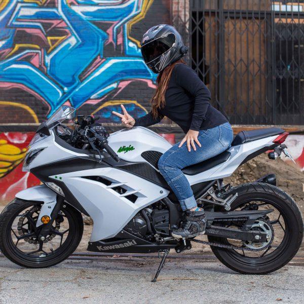 White Kawasaki Ninja 300_IG.@ohsnap_its_snap_ - S.N.A.P Photography