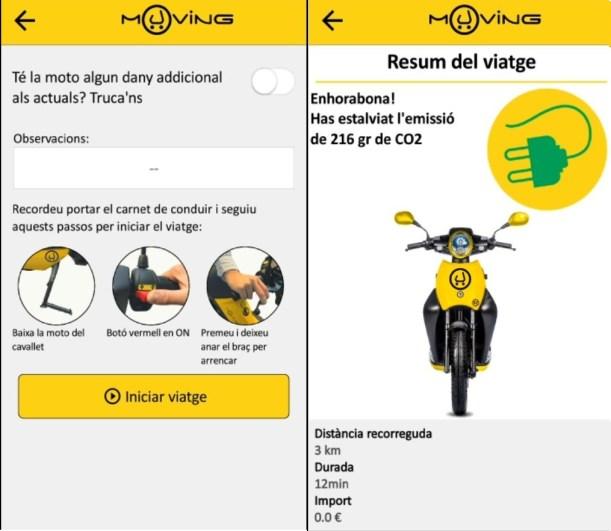 Resumen Viaje app motosharing muving