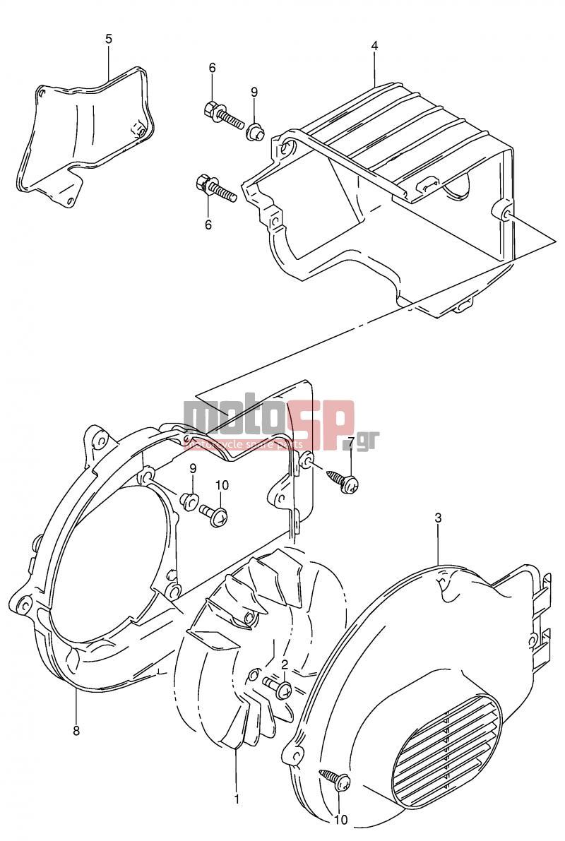 Suzuki ag100 x e71 address 1999 engine transmissioncooling fan