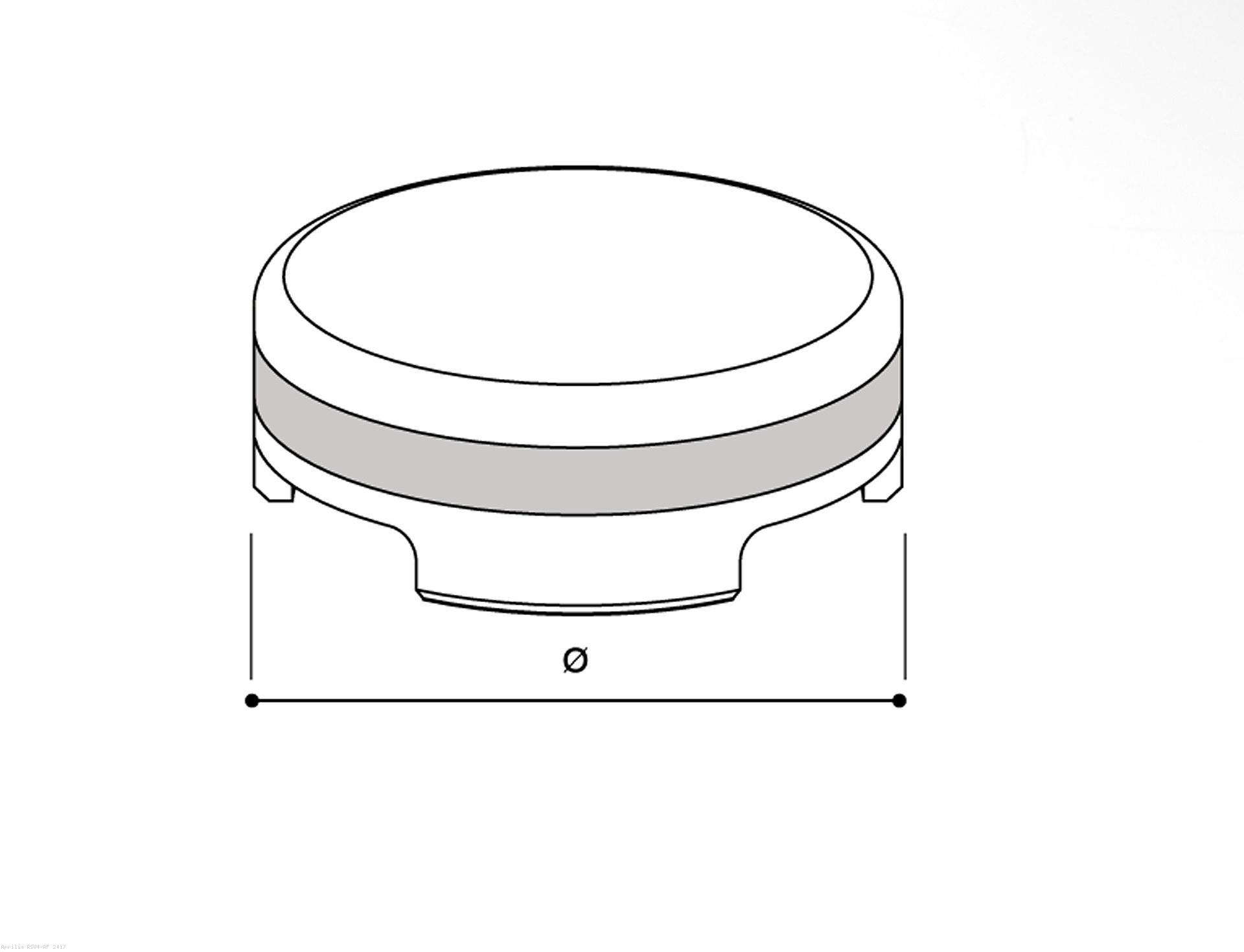 Rizoma Front Brake Fluid Tank Cover Aprilia Rsv4 Rf