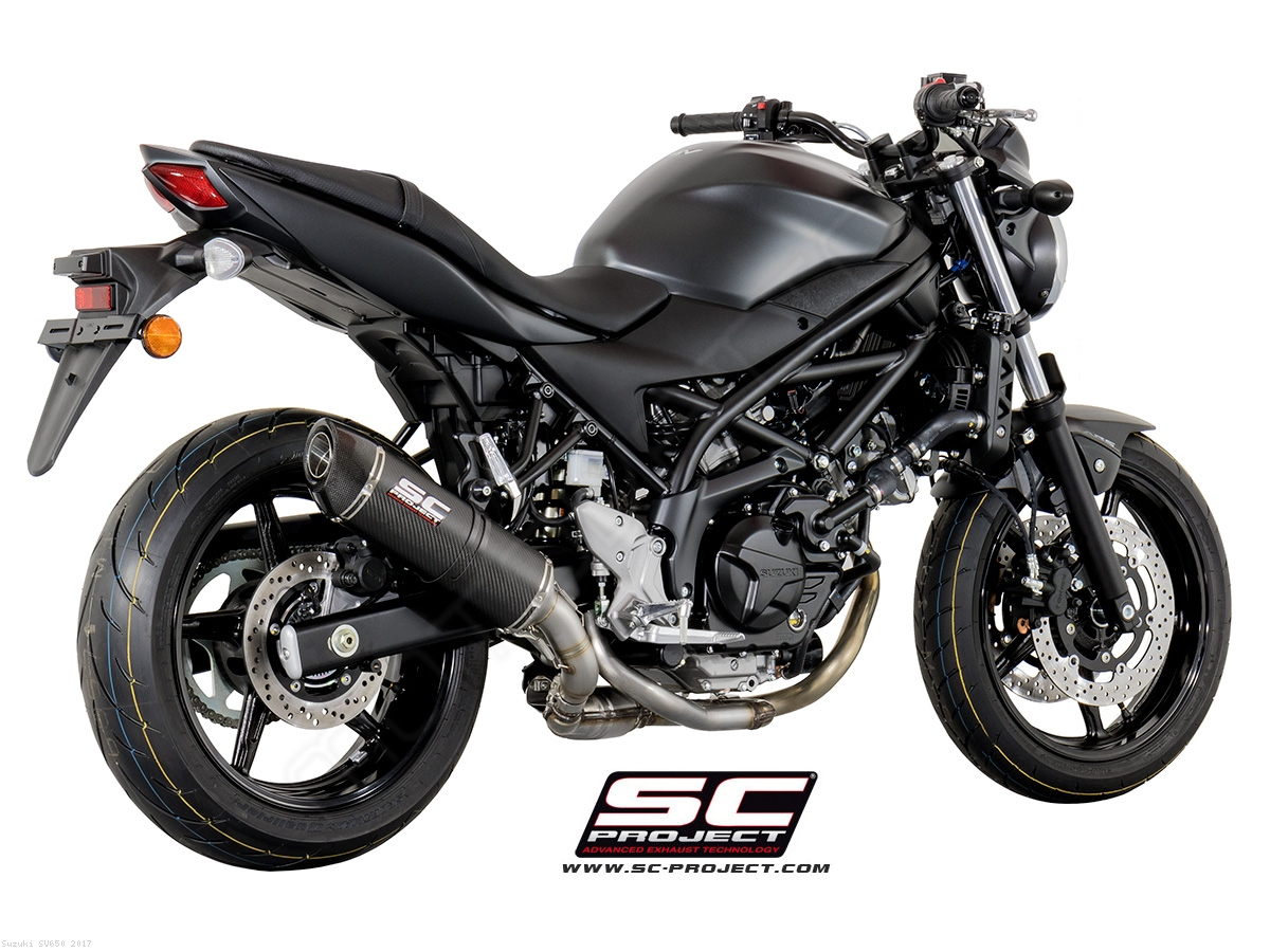 oval exhaust by sc project suzuki sv650 2017