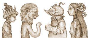 Fig. T. Terrifiants personnages de Jérôme Bosch.