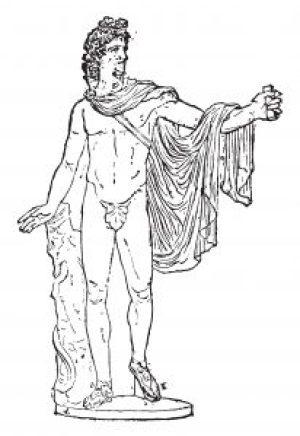 Fig. 1. Apollon du Belvédère et sa chiffe. Musée du ménage.