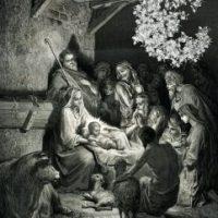 Mettre le petit Jésus dans la crèche [mètre le peti Zézy dâ la krèS]